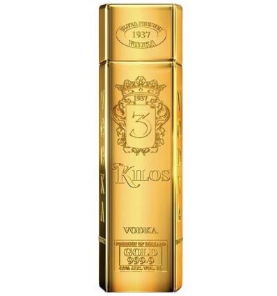 VODKA 3 KILOS GOLD 999.9 ULTRA PREMIUM