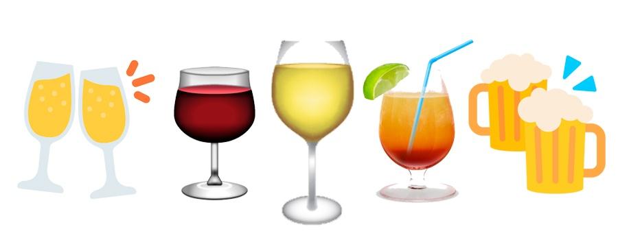 Emojis bebidas y copas en WhatsApp