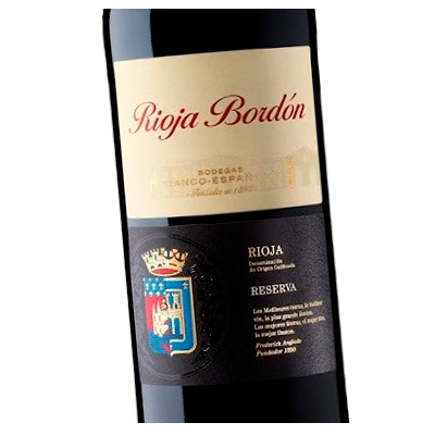 Etiqueta vino Bodegas Franco-Españolas en Vinorea