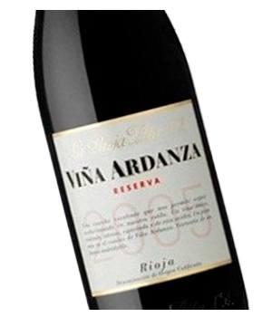 Etiqueta vino Viña Ardanza Reserva en Vinorea