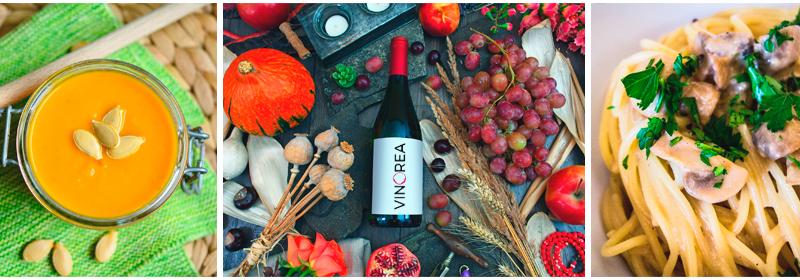 Maridaje de vino y recetas de otoño en Vinorea