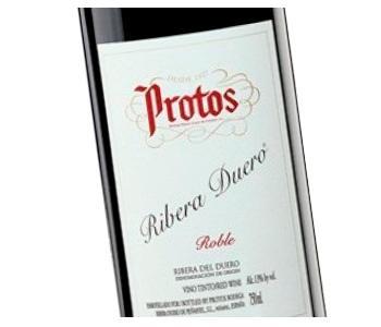 Etiqueta vino Protos Roble en Vinorea