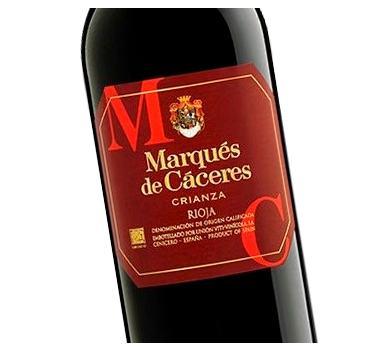 Etiqueta vino Marqués de Cáceres Crianza en Vinorea