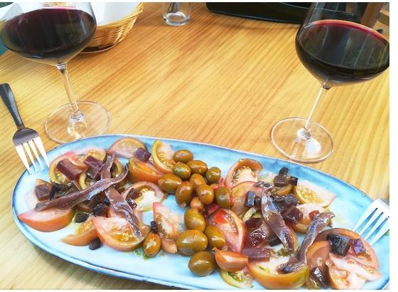 Salazones con vermut aperitivo
